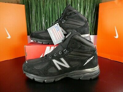 $100 • Buy New Balance 990v4 Made In USA Black Mens Mid Boots MO990BK4 Size 13
