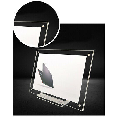 $4.75 • Buy Acrylic Table Card Display Stand/ Photo Frame With Base / Certificates Placing