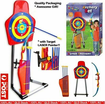 AU79 • Buy Sport Toy Archery Bow And Arrow Set For Kids Fun Game W/ Arrows And Target Stand