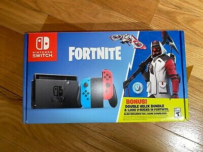 Nintendo Switch - Fortnite Double Helix Console Bundle (Game Insert Is Missing) • 305$