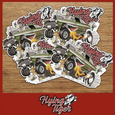 Hot Wheels RLC Flying Tiger '55 CHEVY BEL AIR GASSER Glossy Stickers (4) T Hunt • 10$