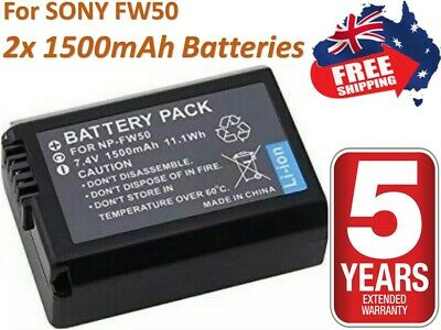$ CDN23.45 • Buy 2x NP-FW50 Battery For Sony Alpha A3000 A3500 A6000 A6300 A6400 A6500