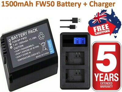 AU25.36 • Buy NP-FW50 Battery / Charger For SONY Alpha A5000,A5100,A6000,A6300,A6500