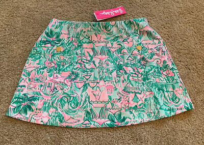 NWT Lilly Pulitzer Madison Skort Bright Agate Green Colorful Camelflage Sz Small • 55$