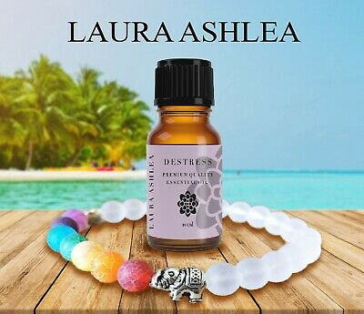 AU8.95 • Buy Chakra Diffuser Bracelet With Essential Oil Set - Lava Stone Healing Beads WHITE