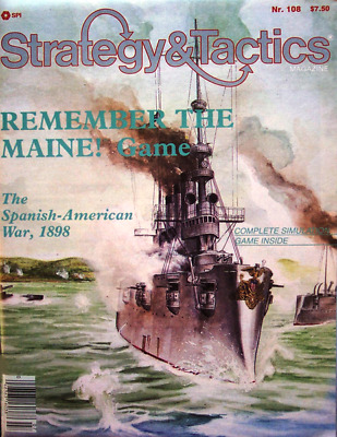 SPI Strategy & Tactics 108, UNpunched Remember The Maine! Game • 14.99$