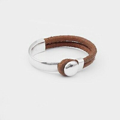 £2.99 • Buy 2x Antique Silver Half Cuff Bracelet Findings Hook Clasp Fit 10*5mm Leather Cord