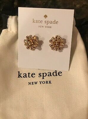 $ CDN46.93 • Buy New Kate Spade New York Gold Bourgeois Bow Pave Stud Earrings