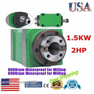 $260.43 • Buy Spindle Unit 2HP 6000rpm/8000RPM Power Head For CNC Engraving Milling Machine