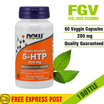 AU60.35 • Buy Now Double Strength 5-HTP 200mg 60 Veg Capsules MOOD & NEUROTRANSMITTER SUPPORT