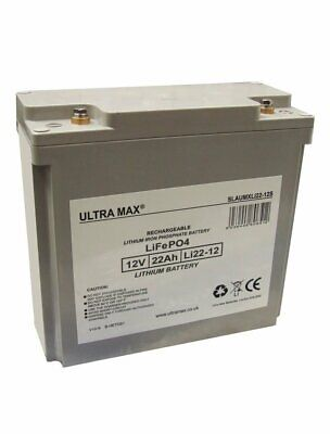 Ultramax Lithium Lipo 18 Hole Golf Trolley Battery Fits Mocad-hillbilly 12v 22ah • 638.99£