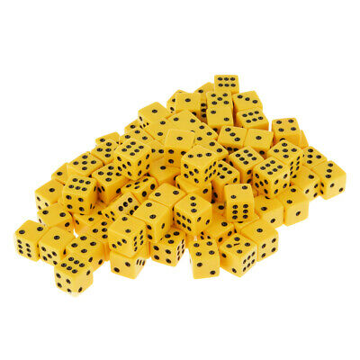 AU21.23 • Buy 100x Six Sided Dice D6 Spot Dices For Roleplaying Game DND Game Tabletop RPG