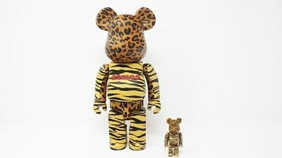 $299 • Buy NEW Medicom Toy BE@RBRICK Atmos Animal Print 400% & 100% Bearbrick 2018 RARE
