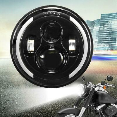 AU40.10 • Buy Motorcycle 7  Inch Round LED Headlight  Angle Eye H-L Beam DRL Driving Light
