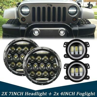 AU125.56 • Buy For Jeep Wrangler JK 7'' LED Headlight Amber Signal Turn Light 4  Fog Lamp Kit