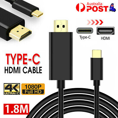 AU11.99 • Buy USB Type C To HDMI Cable 4K Type-C Cord Full HD 1080P For Samsung S8 S9