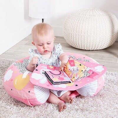 Sit Me Up Dreamy Meadow Padded Inflatable Baby Activity Seat Support Tray & Toys • 22.99£