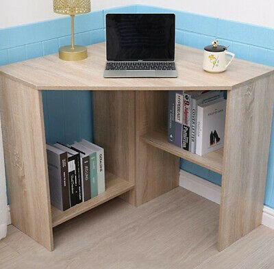 £54.80 • Buy Small Corner Computer Desk Home Office Computer Laptop Study Table 2 Shelves New