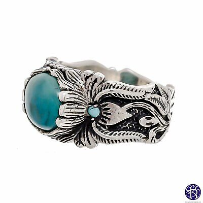 $76 • Buy Sterling Silver Hand Carved Gemstone Ring - Available In 9 Stones Up To Size 14!