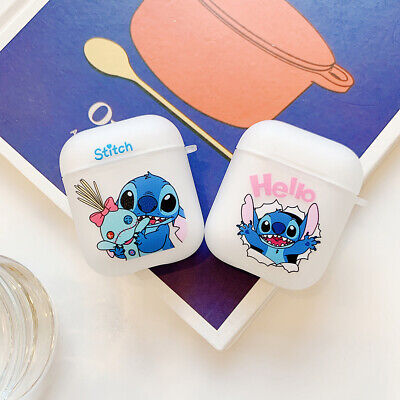 $ CDN5.62 • Buy Stitch Simpson Clear Soft Headset Airpod Charge Case Cover For Apple AirPods1 2
