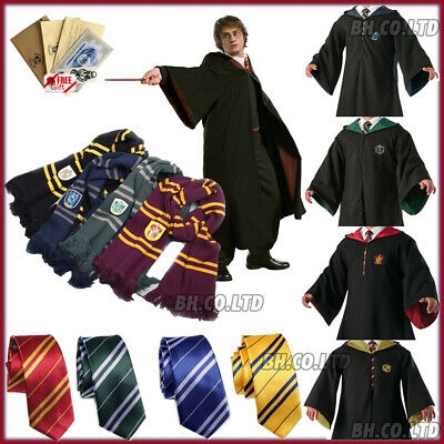 $ CDN29.10 • Buy Harry Potter Gryffindor Robe Cape Cloak Scarf Cosplay School Party Costume Xmas