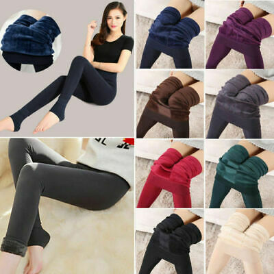 £5.59 • Buy Women Winter Thick Warm Fleece Lined Thermal Stretchy Skinny Leggings Pants UK