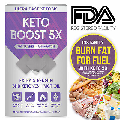 Keto Boost Patch Keto Diet Pills Substitute Ultra Fast Ketosis With BHB & MCT • 24.95$