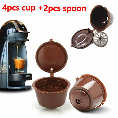 2 Sets Coffee Refillable Nescafe Capsule Cup Dolce Gusto Reusable Pod • 4.75£