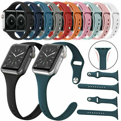 $ CDN3.92 • Buy Replacement Soft Silicone Bracelet Strap Band For Apple Watch Series 5/4/3/2/1