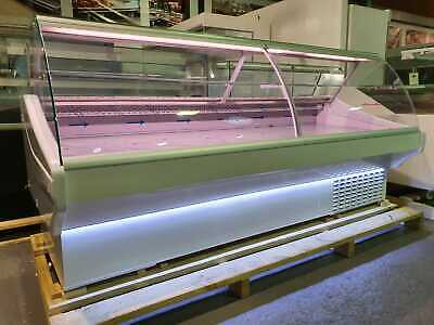 White Serve Over Counter 2.5m Chiller Meat Fish Display Fridge Deli Counter • 2,850£