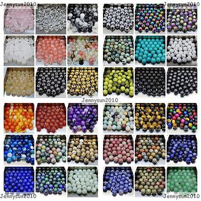 AU1.38 • Buy Wholesale Natural Mixed Gemstone Round Spacer Beads 4mm 6mm 8mm 10mm 12mm Pick