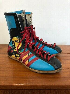 Adidas Muhammad Ali Warhol Boots Men's Size 10 Sneakers Shoes Boxing Rare GOAT • 175$