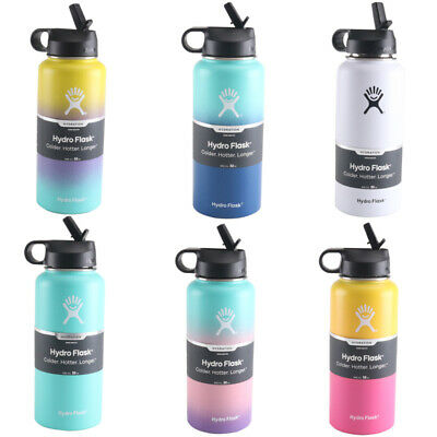 Hydro Flask_32OZ-Water Bottle Stainless Steel & Vacuum Insulated With Straw Lid • 33.95$