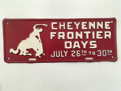 1930's 1940's Wyoming License Plate Cheyenne Frontier Days Rare • 175$