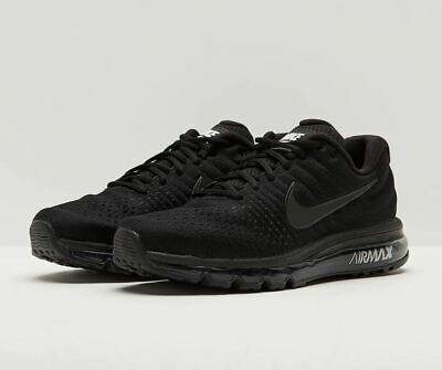 NEW Nike Air Max 2017 Triple Black 849559-004 Running Shoes Men's 9.5 10 10.5 • 118.95$