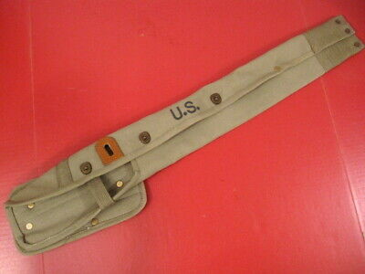 $32.99 • Buy WWII M1 Carbine OD Green Canvas Holster Or Case Marked: Lub Prod Co 1943 - Repro