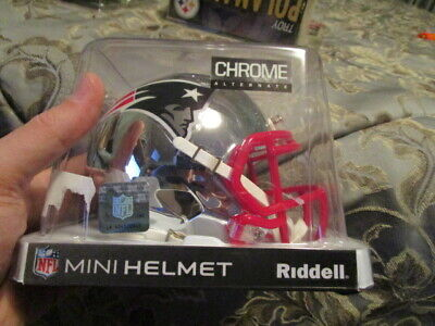 $40 • Buy Riddell Nfl Mini Helmet - Chrome Alternate - New England Patriots