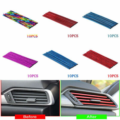 $2.43 • Buy 10pcs Car Accessories Colorful Air Conditioner Air Outlet Decor Strips Universal