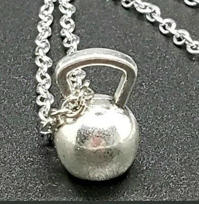 $9.99 • Buy Kettlebell Charm NECKLACE Fitness Weightlifting Weightlifter's Crossfit 19  Mens