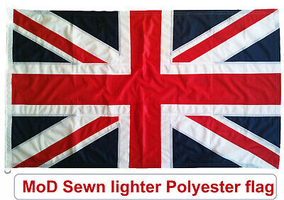 Traditionally Sewn Union Jack Flag British MoD Approved Knitted Polyester 5x3ft • 29£