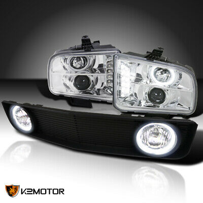 $215.42 • Buy For 2005-2009 Ford Mustang Clear Projector Headlights+Black Grille W/ Fog Lamps