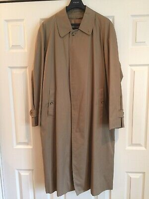 $250 • Buy Burberry Trench/rain Mac Coat With Wool Lining Size 42