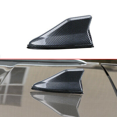 $ CDN11.93 • Buy 1x Car Carbon Fiber Shark Fin Roof Antenna Radio AM/FM Signal Aerial Accessories