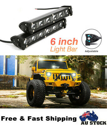 AU24.05 • Buy 2X 6inch CREE LED Light Bar Spot Flood Work Driving Lamp For Offroad 4WD AUSTOCK