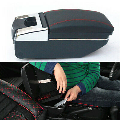 $ CDN70.36 • Buy Universal Car Central Container Armrest Box PU Leather Center Storage Case Parts