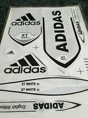 *3d/embossed* Adidas Xt White Cricket Bat Sticker  • 8.49£