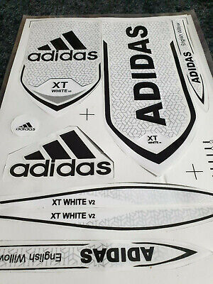 *3d/embossed* Adidas Xt White Textured V2 Cricket Bat Sticker. One Sticker Sale • 8.95£