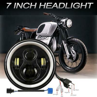 AU35.99 • Buy DOT 7  Inch Motorcycle Headlight Round  LED Projector For Harley Cafe Racer