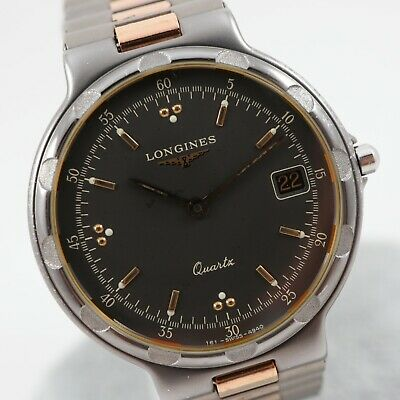 $ CDN255 • Buy LONGINES CONQUEST TITANIUM Gray Dial Ref. 4940 Cal. L161.2 Swiss Vintage Watch