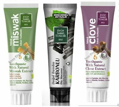 VEGAN TOOTHPASTE WITH NATURAL BAMBOO CHARCOAL, MISWAK & CLOVES (Free Toothbrush) • 6.50£